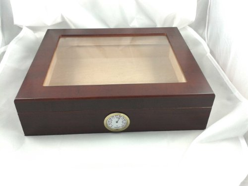 Lloyd's Bargain Cherry Wood Humidor 20 Count - Free Brass Nameplate Option