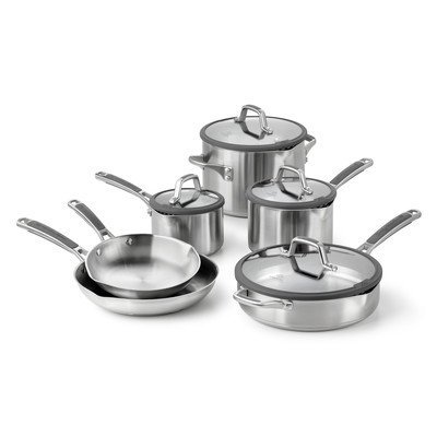 Calphalon 1841294 Simply Easy System Stainless Steel 10-Piece Cookware Set