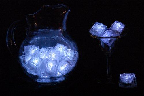 Set of 12 Litecubes WHITE Light up LED Ice Cubes