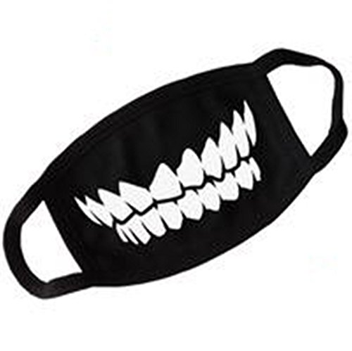 Unisex-Black-Teeth-Anti-Dust-Face-Mouth-Mask-Outdoor-Anti-fog-Mask-Accessories