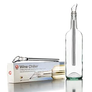 PT Wine Chiller - Stainless Steel Chilling Rod with Aerating Non-Drip Pourer by Perfect Temperature