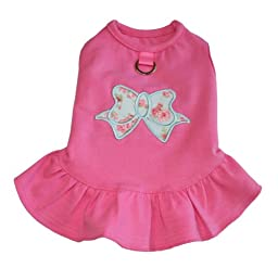 Gooby A-Line Bow Dress, X-Small, Pink