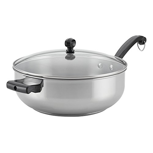 Farberware 70121 Classic Cookware Covered Chef Pan with Helper Handle, 6 quart, Stainless Steel