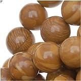 Wood Jasper 8mm Round Beads Tan Brown 15.5 Inch Strand