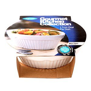 Rayware 17 Cm Gourmet Oval Pie Dish White by Rayware