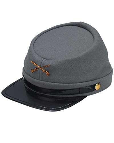Adult's Civil War Confederate South Soldier Hat Cap Costume Accessory