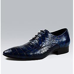 WZH cuoio genuino respirabile casual maschile pointed toe in pelle lacci scarpe