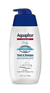 Aquaphor Baby Wash & Shampoo 16.9 Fluid Ounce by Beiersdorf, Inc. Hazmat