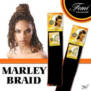 Femi Collection Marley Braid 100% Kanekalon (COLOR: #27, #30, #33 (#27