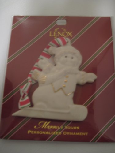 """Lenox Merrily Yours Personalized 'Aidan"""" Snow Boy Christmas Ornament front-1056414"""