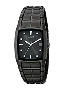Citizen Men's BM6555-54E Eco-Drive Black Ion-Plated Stainless Steel Watch