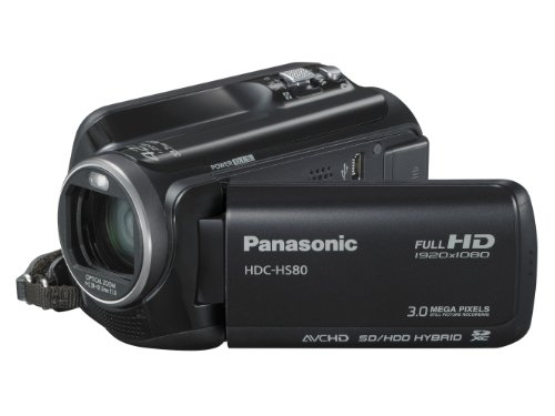 Panasonic HS80 Full HD Camcorder - Black (120GB HDD, x42 Intelligent Zoom, x37 Optical Zoom, Wide Angle Lens  &  iA + Face Recognition  &  New Hybrid OIS)