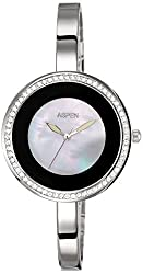 Aspen Analog White Dial Womens Watch - AP1927