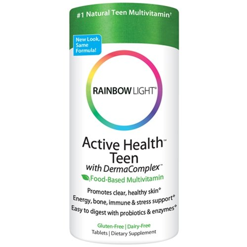 Rainbow Light Active Health Teen With Dermacomplex Multivitamin 60 Tablets (Pack Of 2)