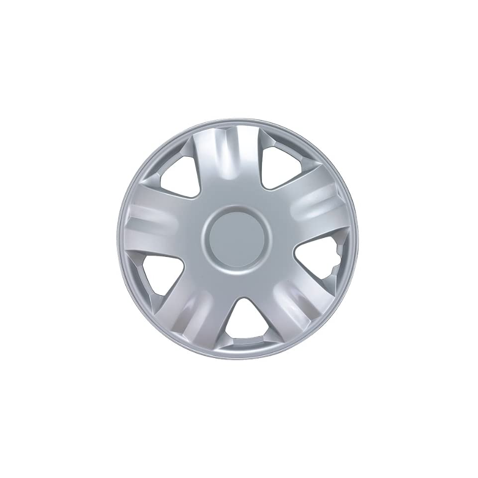 Drive Accessories KT1005 14S/L 14 Silver ABS Plastic Wheel Cover, (Set of 4)
