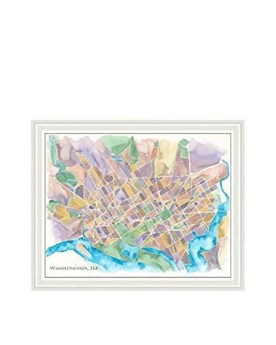 Art Source Watercolor Washington D.C. Map