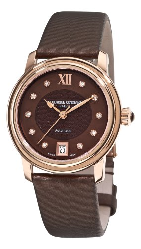 Frederique Constant Women's FC-303CHD2P4 Automatic Brown Diamond Watch
