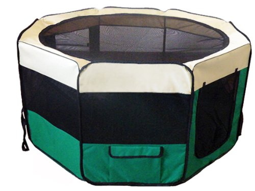 New Pet Dog Play Pen 50&#8243; Large Tent Puppy Cat Exercise Pen Soft Play Yard Kennel Dog Crate Cage by 50L&#8221; x 50W&#8221; x 32H&#8221;