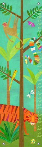Oopsy Daisy in The Jungle by Melanie Mikecz Growth Charts, 12 by 42-Inch