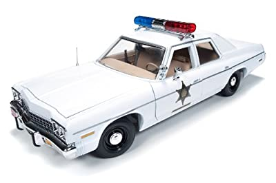 "1975 Dodge Monaco Police Pursuit ""Dukes of Hazzard"" 1/18 by Autoworld AWSS107"