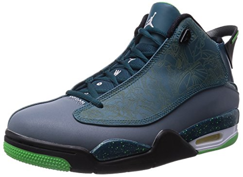 Nike Jordan Men's Air Jordan Dub Zero Teal/Lt Grn Sprk/Bl Grpht/Blck Basketball Shoe 8.5 Men US (Amazon Jordan Shoes compare prices)