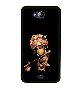 iFasho Lord Krishna with Flute Back Case Cover for MICROMAX CANVAS PLAY Q355