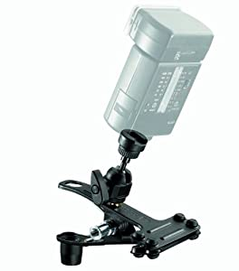 Manfrotto 175F-1 Spring Clamp with Flash Shoe - Black