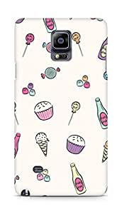 AMEZ designer printed 3d premium high quality back case cover for Samsung Galaxy Note 4 (girly candy collage)