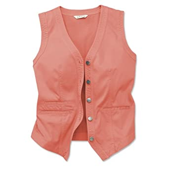 Orvis Women's Surfwashed-twill Vest, Pale Coral, X Small