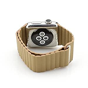 HappyCell Genuine Leather Loop Band for Apple Watch iwatch,Replacement real Leather band for Apple Watch all version realsed on 2015(38mm in Stone)