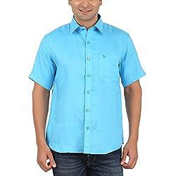 Gm Men's Formal Shirt (GM6002_Sky Blue_42)