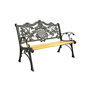Regal Cast Iron Park Bench Outdoor Benches Patio Lawn Garden