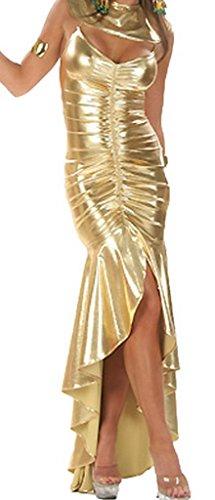 Lukis Set Ägypterin ägyptischen Königin Kostüm lange Kleid Haarschmuck Gold