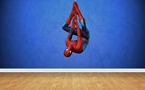 Spiderman Upside Down Wall Stickers Art Decal Vinyl Boys Bedroom
