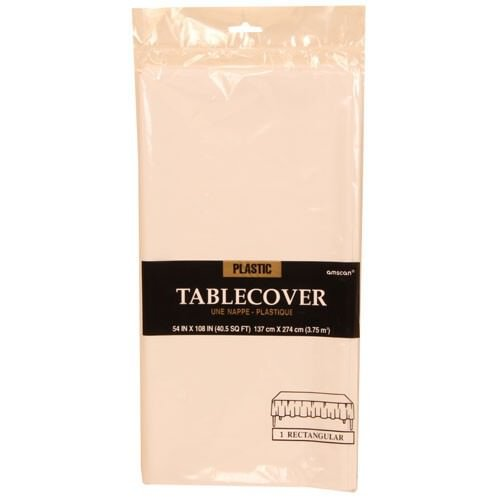 JAM Paper® Plastic Rectangular Tablecover - 54 x 108 - White - Sold Individually - 1