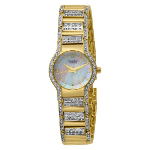 Caravelle by Bulova Women's 45L004 Crystal Accented Mother of Pearl Dial Watch