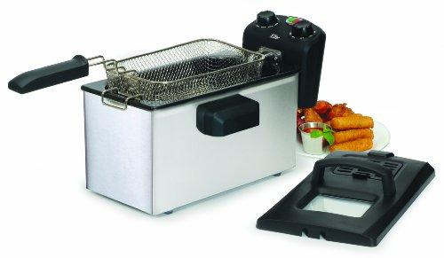 Maximatic Edf-3500 Elite Gourmet 3-1/2-Quart Deep Fryer, Stainless