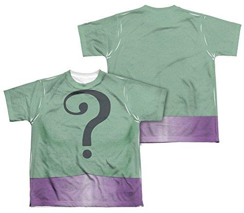 Batman Classic TV Riddler Uniform All Over Youth Front/Back T-Shirt