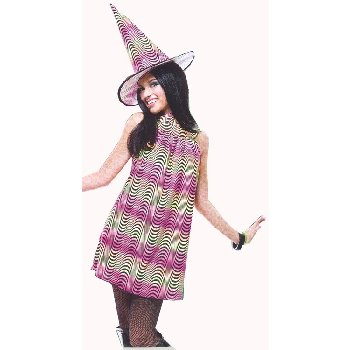 Pre-Teen Psychedelic Witch Costume