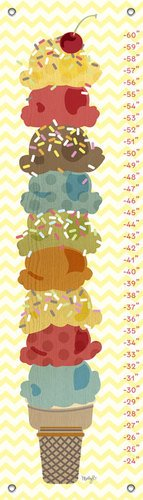 "Oopsy Daisy Growth Chart, Sweet Treats Ice Cream Stack, 12"" x 42"""