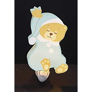 Childrens Designed Blue Sleeping Bear