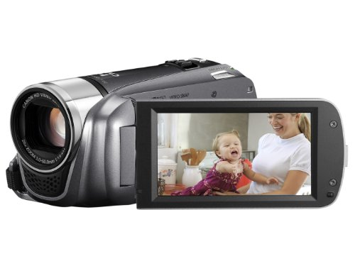Canon LEGRIA HF R26 High Definition Camcorder - Silver (20x Optical Zoom, 3 inch Touchscreen LCD)