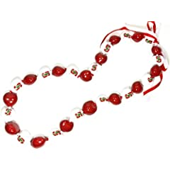 Buy NCAA Stanford Cardinal Go Nuts Kukui Nut Lei Necklace by Style Pasifika