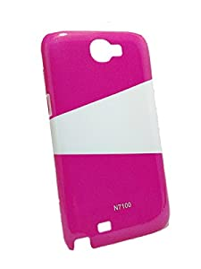 Iway Two Color High Glossy UV Hard Back Cover for Samsung Galaxy Note 2 N7100   Raspberry available at Amazon for Rs.89
