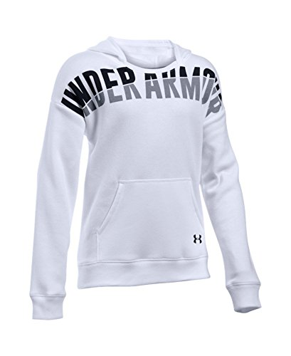 Under Armour Women's Favorite Fleece Hoodie, White (100), Youth X-Large