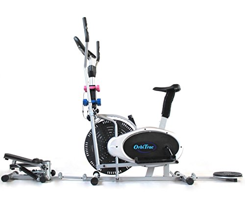 ELLITTICA Cyclette Ergometro + STEPPER + TWISTER + 4 Manubri ORB2900S