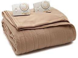 Biddeford 1000-903292-706 Comfort Knit Electric Heated Blanket, Twin,Fawn
