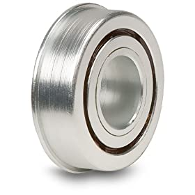 "Kilian F-300-19 3/8"" Bore, 1-1/8"" Minor Diameter, 1-1/4"" Flange Diameter, 3/8"" Wide Flanged Bearing"