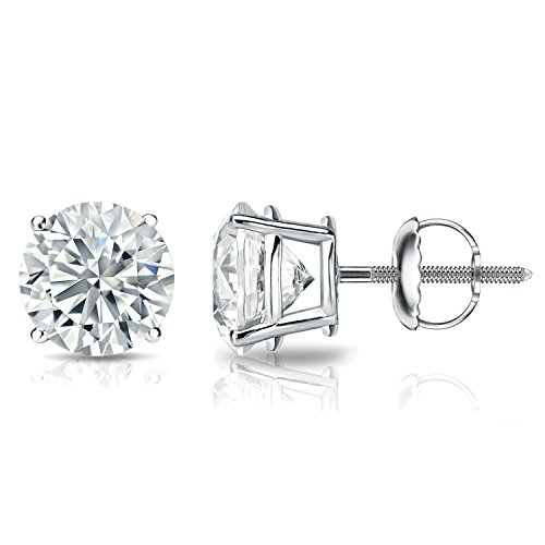 GIA Certified Platinum Round Diamond Stud Earrings 4-Prong (5.50 cttw, E-F, SI1-SI2) SB (Gia Diamond Earrings Platinum compare prices)