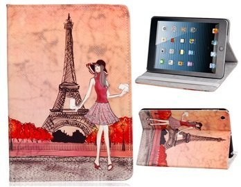 Wisedeal Eiffel Tower Dual Fold Faux Leather